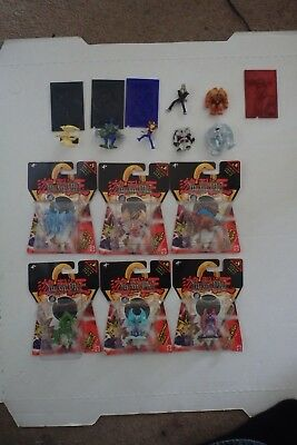 """Lot of 1996 Mattel YUGIOH 2"""" figures both New and used figures, great condition"""