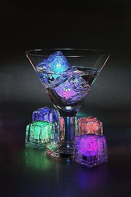 Multi Pack Multi color Rainbow LED Light up Ice Cube Glow Ice Cube FREE SHIPPING