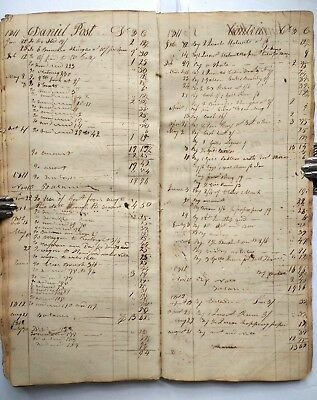 HANDWRITTEN LEDGER Schoharie County NY/Blenheim/Gilboa History & Genealogy 1809