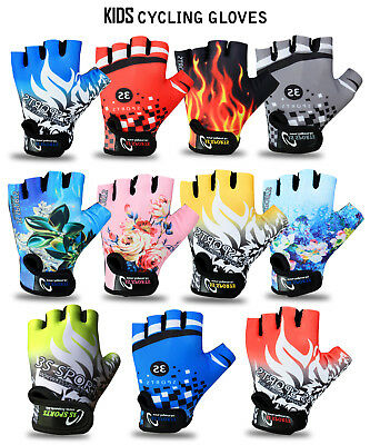 3S Sports Childrens Kids Boys Girls Padded Cycling Gloves Bmx Bike Cycle Bicycle