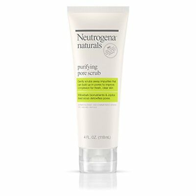 (2 PACK) Neutrogena Naturals Purifying Pore Facial Scrub 4 oz Each