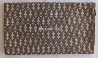 10 Yard Cotton Hand Block Print Fabric Decorative Craft Sewing Natural Print