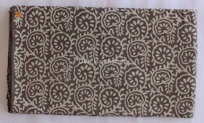 10 Yard Cotton Hand Block Print Fabric Decorative Craft Sewing Natural Print 308