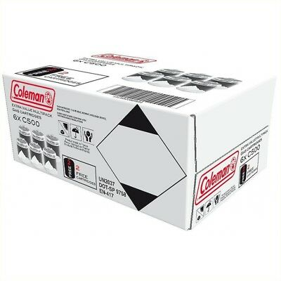 Coleman C500 screw on gas cartridge x6 NEXT WORKINGDAY DELIVERY ORDER BEFORE 1PM