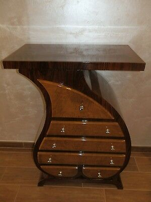 Bedside table chest of drawers wood walnut and rosewood decò 6 sailing defect