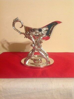 F. B. Rogers Silver Co Gravy Boat W/Stand Silverplate