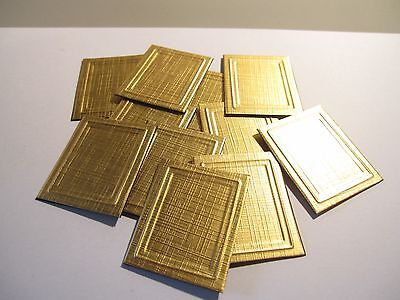 4 DOLLS HOUSE Miniature Picture Frames Gold - £0.99 | PicClick UK