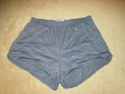 VINTAGE  SOFFE LITE NYLON JOGGING RUNNING SHORTS MENS GRAY size  LARGE