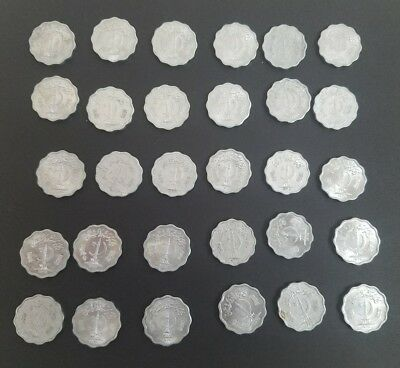 Set Thirty (30) Pakistan 10 Paisa coins