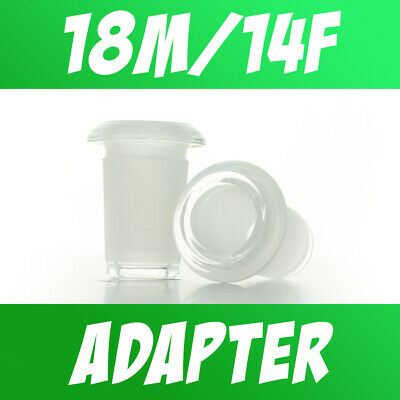 Glass 18mm Male to 14mm Female Low Profile Flush Mount Adapter Reducer Converter