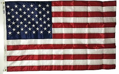 """4' x 6' U.S. """"Nyl-Glo"""" Nylon Flag - Sewn & embroidered -  Made in USA by Annin"""