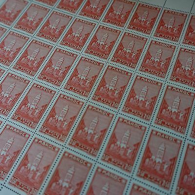 MOROCCO MOROCCO FRANCE COLONY N°191 SHEET FEUILLE x50 1939 NEUF MNH