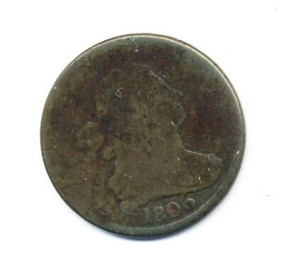 Hard To Find 1806 Draped Bust Half Cent Exact Shown - Free Shipping