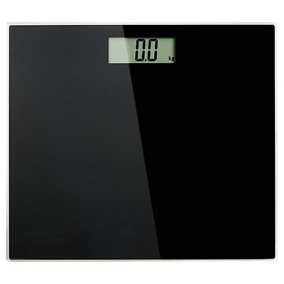 NEW Glass Electronic Bathroom Scale - Black 6mm stylish tempered glass