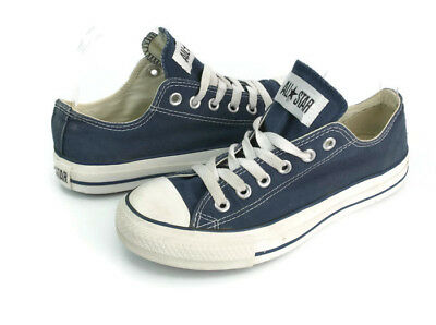 6fc90edf9cf7 Converse Women s Blue Canvas Chuck Taylor Ox Casual Shoes Navy W9697 Size  6.5
