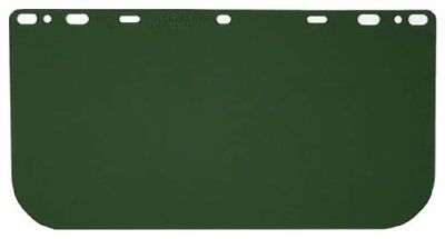 MCR Safety 181541 Polycarbonate Universal Visor Safety Faceshield, Medium Green,