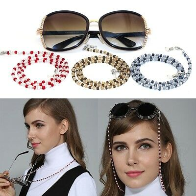 Sunglasses Beaded Eyeglass Cord Reading Glasses Eyewear Spectacles Chain Holder
