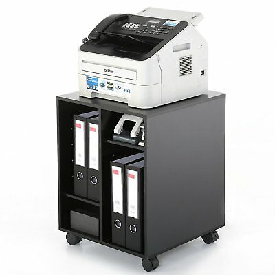 Printer Stand Office Storage Cabinet with Wheel Office Furniture File Shelves