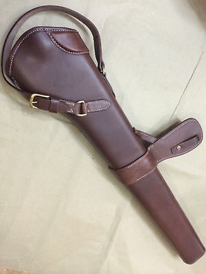 Latest WWI WWII 303 SMLE S.M.L.E. Rifle LEATHER BUCKET - ANTIQUE BROWN