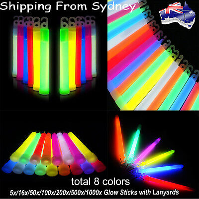 6 Inchs Mix Glow Sticks Set Hook Lanyard Light Party Xmas Glow in the dark Toy