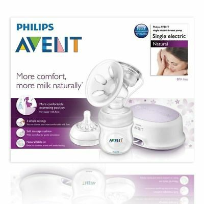 New PHILIPS AVENT NATURAL COMFORTSINGLE ELECTRIC BREAST PUMP FreePostage