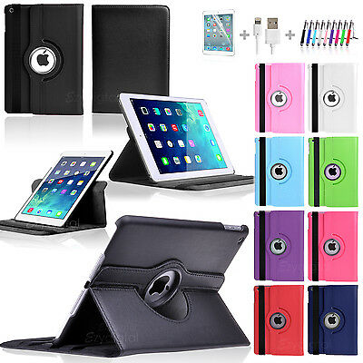 "360°Rotating Smart Wake up Flip Leather Case Cover for New iPad 9.7"" 2018"