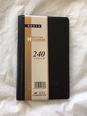 240 Business Name ID Credit Card Holder Booklet Folder Wallet Organizer