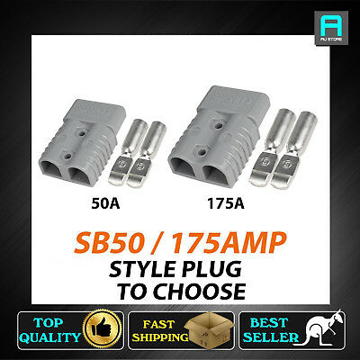 Grey 50a 175a Anderson Style Plugs Battery Connectors Join Accessories Caravan