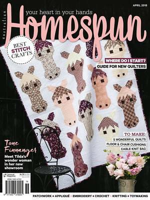 Homespun Magazine No 179 April 2018 - Best Stitch Crafts (NEW)
