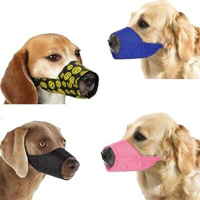 Pet Nylon Tranning Muzzle Dog Anti-Bark Soft Mouth Mask 7 Sizes Adjustable