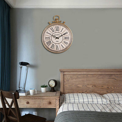 UK Large Kensington Station Silver Pocket Watch Wall Clock Round Roman Numerals