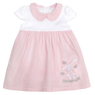 Baby Girls Summer Dress Bunny Rabbit 100% Cotton Bodysuit Pretty Girly Outfit
