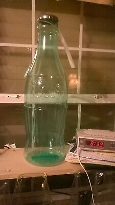 Coca-Cola Plastic  Bottle Piggy Bank- 23 Inches Tall