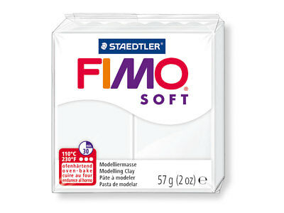 18 x FIMO Professional Soft 57g 1.02kg Total White Modelling Clay Oven Bake Clay
