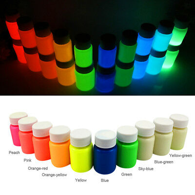 Glow in The Dark Body Face Paint Kit Art Makeup Painting Pigment Fancy Party Top