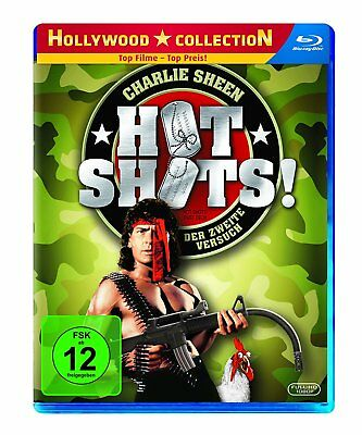 HOT SHOTS 2 Part Deux - Region A,B,C ( ALL)  Blu-ray - Charlie Sheen