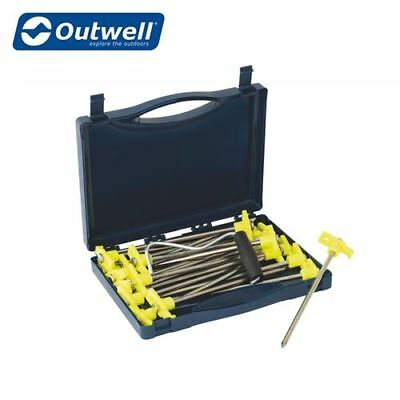 Outwell Premium Spike Heavy Duty Hard Ground Tent Pegs Awning - FREE PEG PULLER