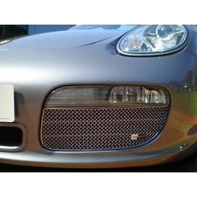 Zunsport polished front lower outer mesh grille kit Porsche Boxster 987.1 05-08