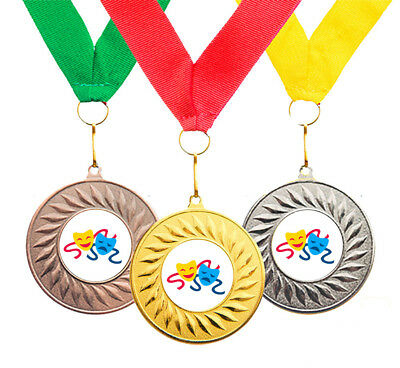 10 x Drama Award Achievement Medals + Ribbons High Quality Free Delivery