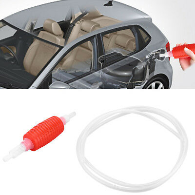 1.5m Manual Hand Siphon Oil Water Fuel Transfer Pump White Oil Suction Pipe WT