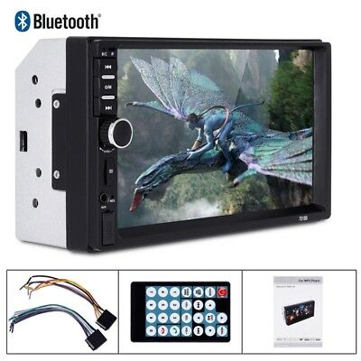 "New 7"" 2 Din Touch Screen Car MP5 Player Bluetooth Stereo FM Radio USB/TF A I6D4"