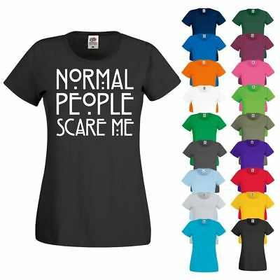 NORMAL PEOPLE SCARE ME American Horror Story Hipster Ladies Womens T Shirt Top