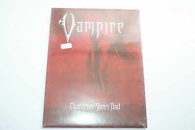 ROLLENSPIEL: VAMPIRE THE REQUIEM: CHARACTER SHEET PAD, NEU & OVP, White Wolf Ro3