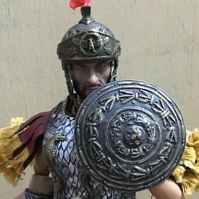 """1/6 Scale Ancient Roman Metal Helmet / Shield Model Toy For 12"""" Action Figure"""