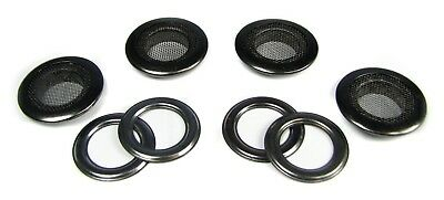 4pc. 1-inch Outside Dia. Black Screened Grommets with Washers - great for CBGs!