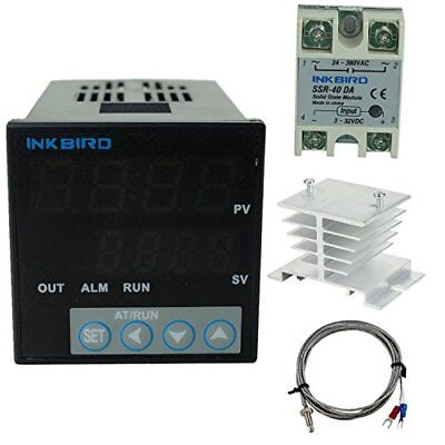 Inkbird °F and °C Display PID Stable Temperature Controller ITC-106VH K 40A SSR