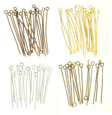 "100pcs 20-60mm  ""9"" Shape Eye Heads Pins Supplies For Jewelry Making Findings"