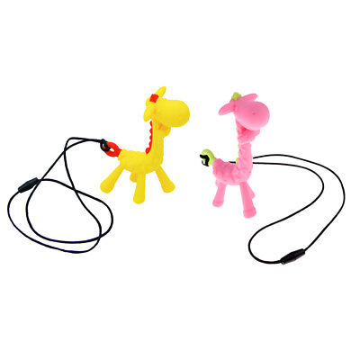 Baby Silicone Giraffe Shape Teether Teething Pendant Necklace BPA Chew Toy