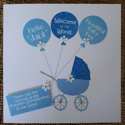 Baby Girl Available Personalised Handmade Beautiful New Born Baby Boy Card