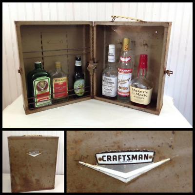 1960s Vintage Craftsman Tool Case Rusty Distressed Great for Bar Cabinet
